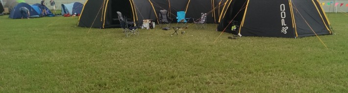 The 3 POD set up at the 2013 Secret Garden Party