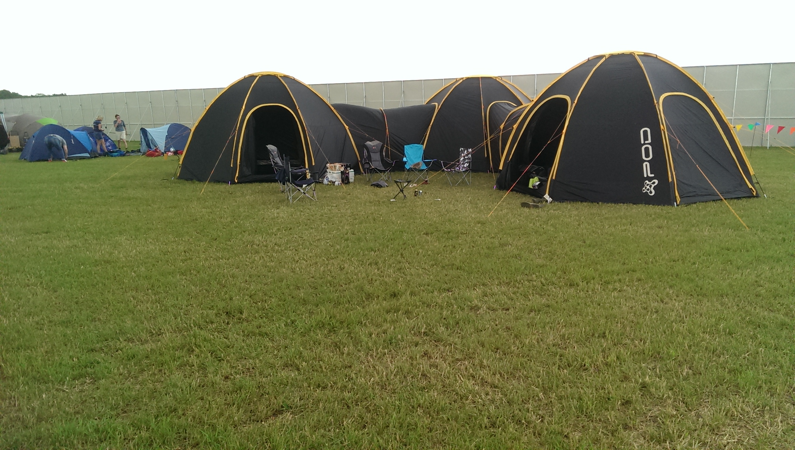The 3 POD set up at the 2013 Secret Garden Party & POD Tents @ SGP 2013 - Pod Tents Tent Pods